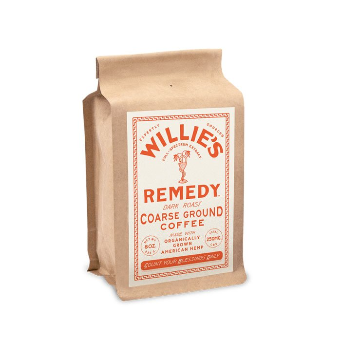 Dark Blend 8oz Ground Coffee by Willie's Remedy